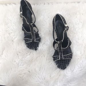 Coach black and gray heels
